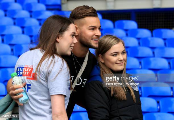 Love Island's Chris Hughes arrives for the Bradley Lowery charity match at Goodison Park Liverpool PRESS ASSOCIATION Photo Picture date Sunday...