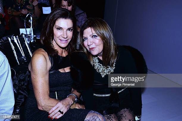 Love it or List It's Hilary Farr and President of FDCC Robin Kay during World MasterCard Fashion Week at David Pecaut Square on October 24, 2012 in...