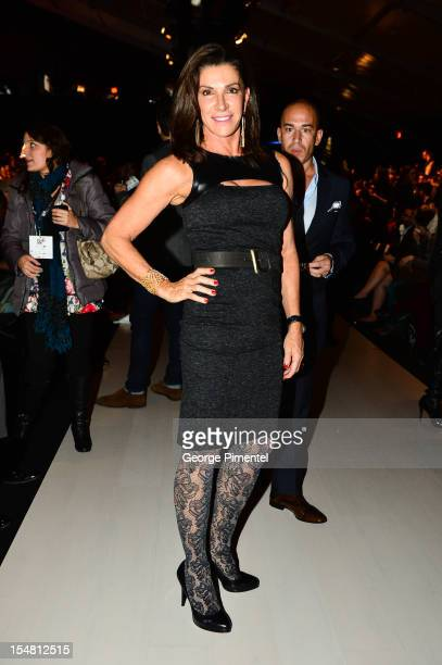 Love it or List It's Hilary Farr during World MasterCard Fashion Week at David Pecaut Square on October 24, 2012 in Toronto, Canada.