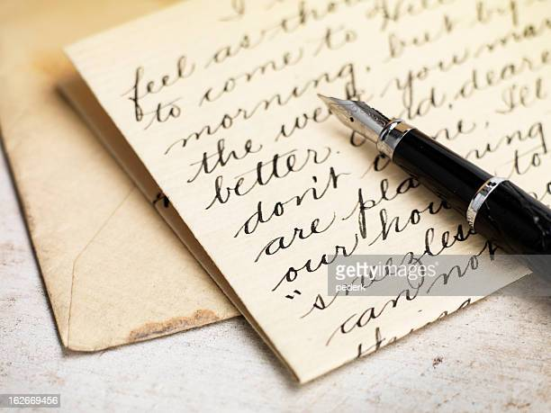 love letter - handwriting stock pictures, royalty-free photos & images
