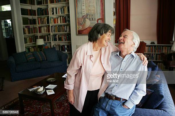 Love letter writer Ian Hansen with his wife Dorothy 9 December 2005 THE AGE NEWS Picture by CRAIG SILLITOE