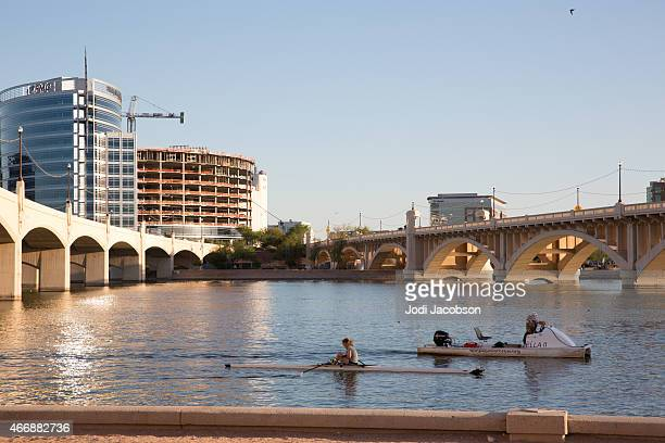 Love Local: Boaters on Salt River in Tempe, Arizona