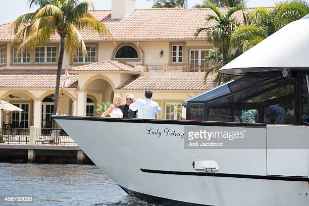 love local:  boating on the ocean - delray beach stock pictures, royalty-free photos & images