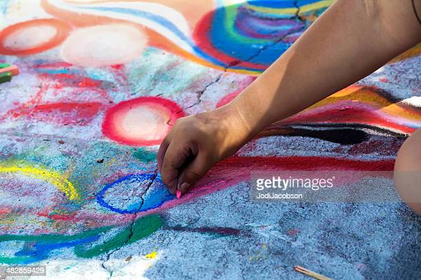 love local : lake worth florida street painting festival - chalk art equipment stock pictures, royalty-free photos & images