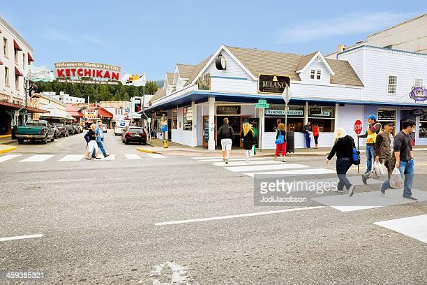 Love Local:  Main tourist street in Ketchikan, Alaska