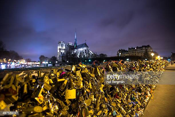 Love Lock Bridge by Notre Dame