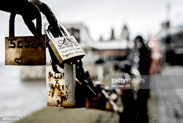 Love Locks at the Albert Dock