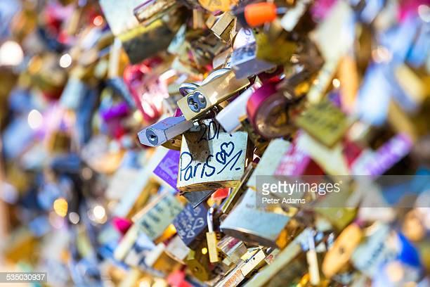 Love locks, Ponte Des Art, Paris, France
