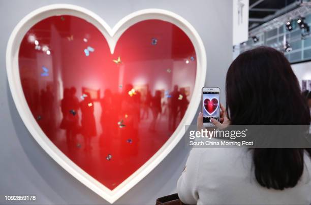 Love Love Love 2008 by Damien Hirst on display at Art Basel Hong Kong 2017 Hong Kong Convention and Exhibition Centre in Wan Chai 22MAR17 SCMP / Nora...
