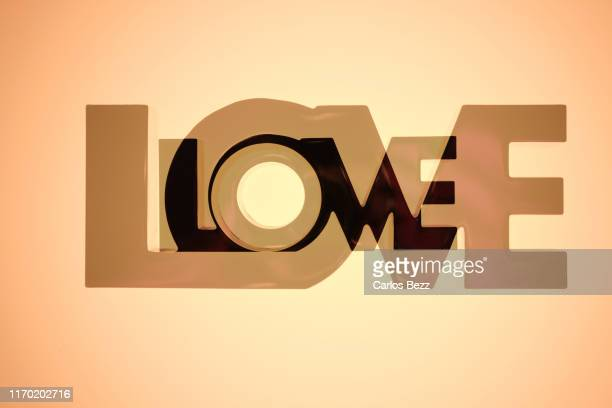 love love - typographies stock photos and pictures