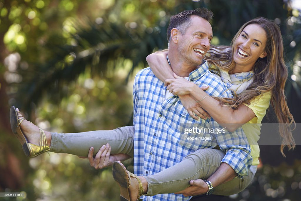I love making her smile : Stock Photo
