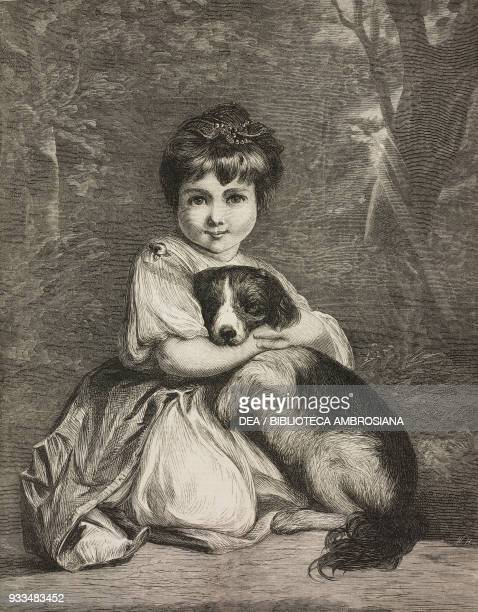 Love me love my dog little girl with a dog by Jeshua Reynolds illustration from the magazine The Illustrated London News volume LXII February 15 1873