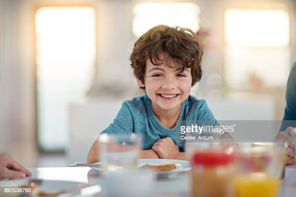 i love me some breakfast - boys stock pictures, royalty-free photos & images