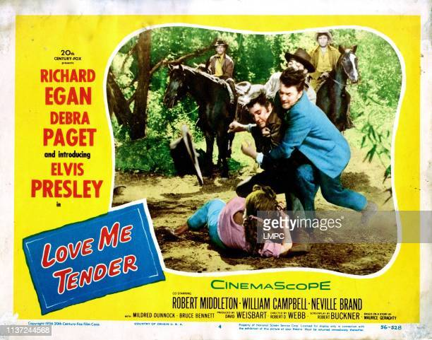 Love Me Tender poster Elvis Presley Debra Paget 1956