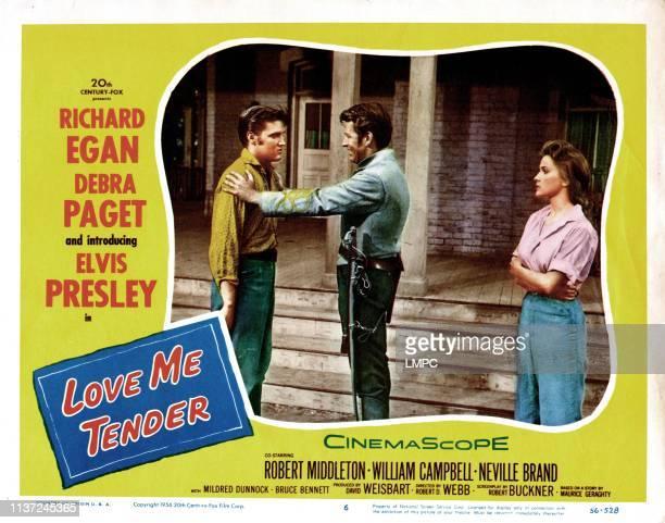 Love Me Tender, poster, Elvis Presley, Richard Egan,Debra Paget, 1956.