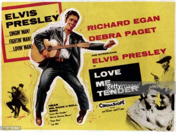 Elvis Presley bottom from top Richard Egan Elvis Presley Debra Paget 1956