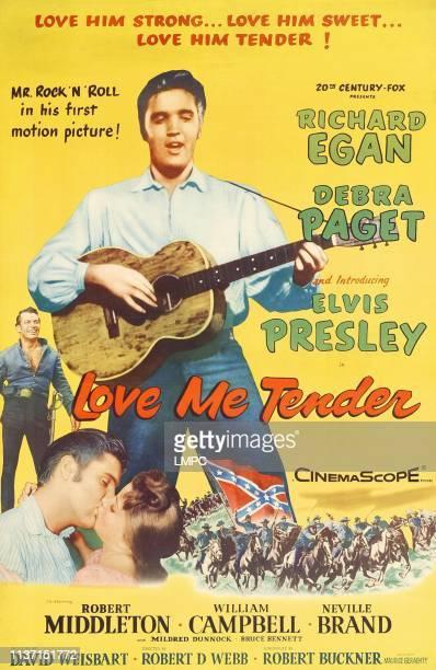 Elvis Presley bottom from left Richard Egan Elvis Presley Debra Paget 1956