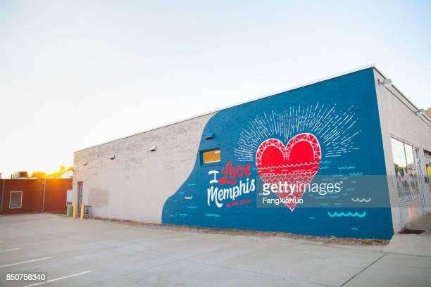 Je les mural Love Memphis à Crosstown Midtown Memphis, TN