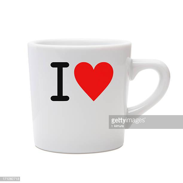 amour message mug - i love you photos et images de collection