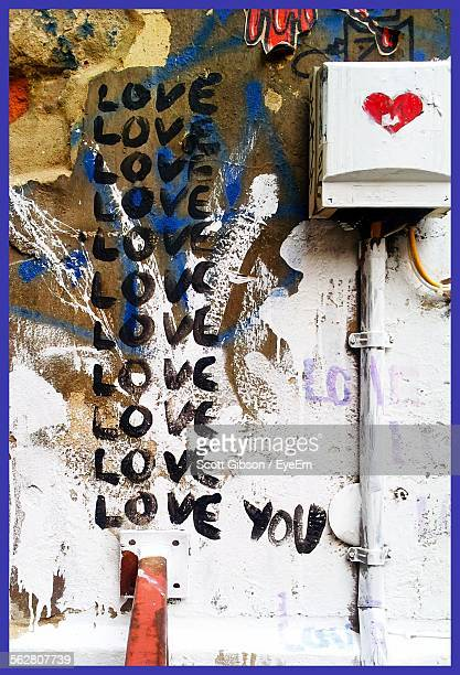 Love Message Written On Wall By Electric Meter