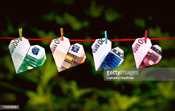 i love money - twenty euro banknote stock photos and pictures