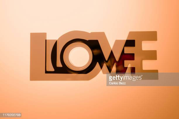 love multiple exposure - typographies stock photos and pictures