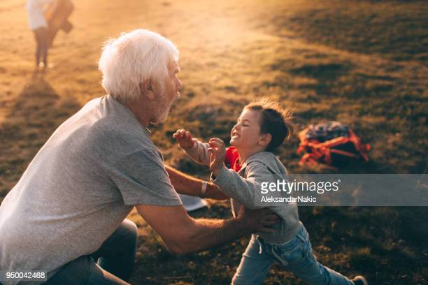 i love my grandfather! - affectionate stock pictures, royalty-free photos & images