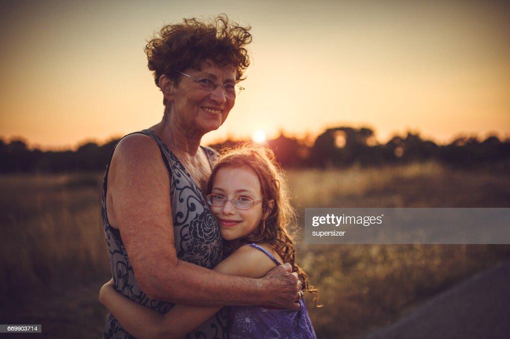 I love my granny : Stock Photo