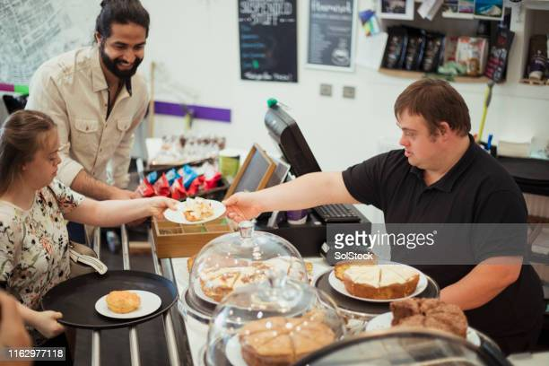 i love my job - persons with disabilities stock pictures, royalty-free photos & images
