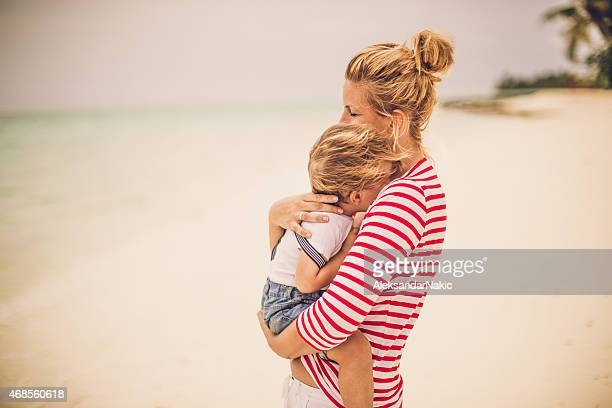 love my mommy! - mothers day beach stock pictures, royalty-free photos & images