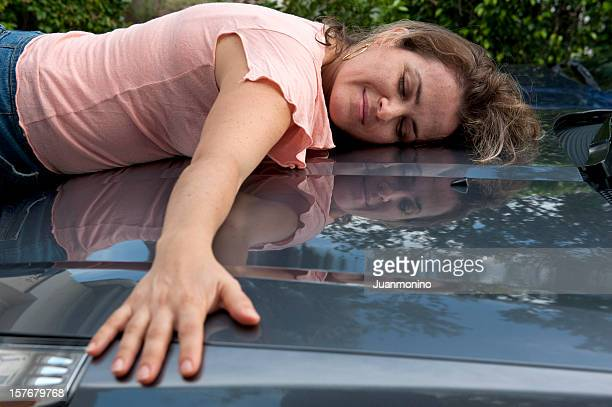 i love my new car - compact car stock photos and pictures