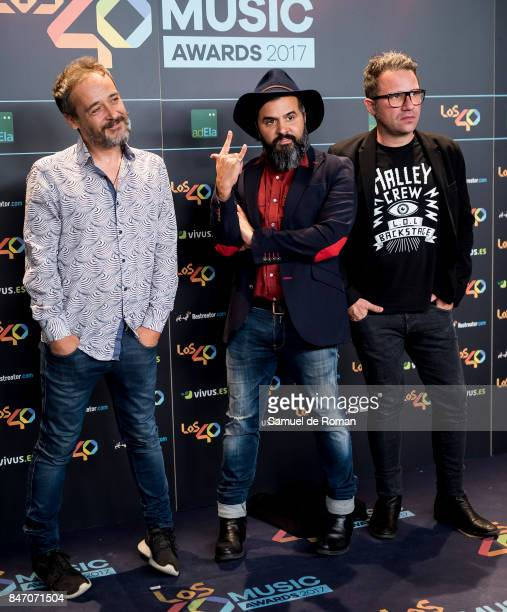 Love of Lesbian attends 40 Principales Awards candidates dinner 2017 on September 14 2017 in Madrid Spain