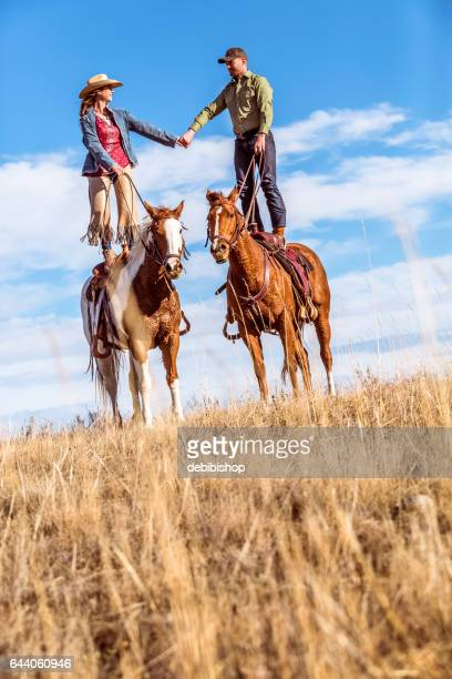 love on horseback - istock photo stock pictures, royalty-free photos & images