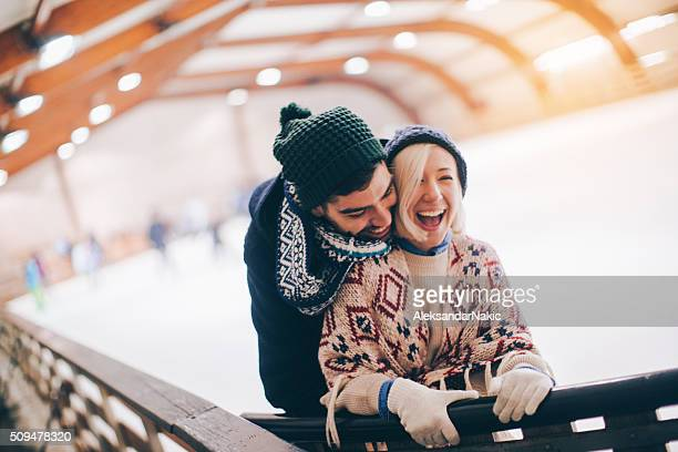 Love on the ice-skating rink