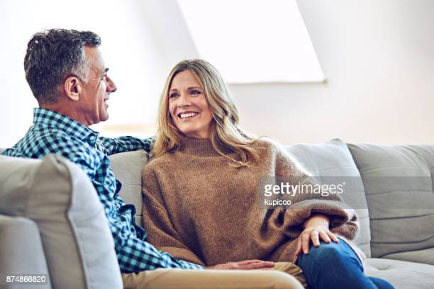 love our talks - mature couple stock pictures, royalty-free photos & images