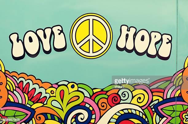 平和 love hope - ヒッピー ストックフォトと画像