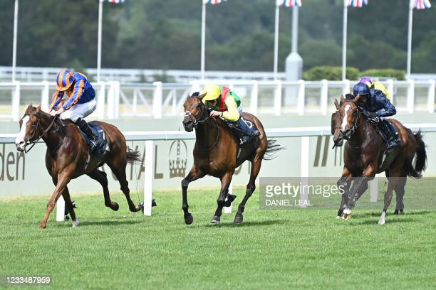 Love ridden by Ryan Moore win the Prince Of Wales's Stakes on the second day of the Royal Ascot horse racing meet, in Ascot, west of London on June...
