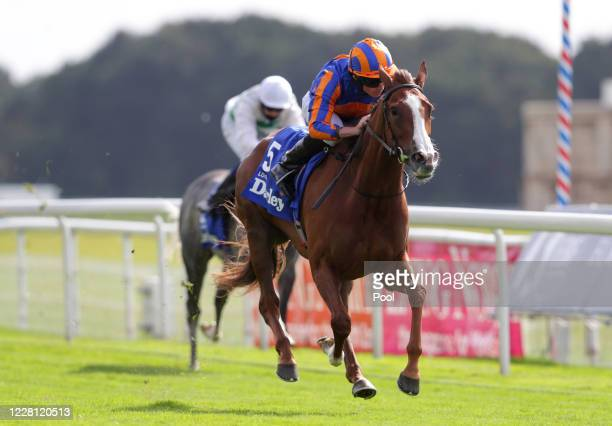 Love ridden by Ryan Moore wins the Darley Yorkshire Oaks during day two of the Yorkshire Ebor Festival at York Racecourse on August 20 2020 in York...