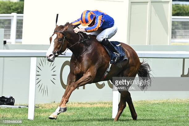 Love ridden by Ryan Moore wins the Prince Of Wales's Stakes on the second day of the Royal Ascot horse racing meet, in Ascot, west of London on June...