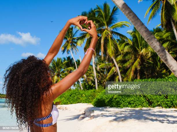 i love isla saona! - dominican republic stock pictures, royalty-free photos & images