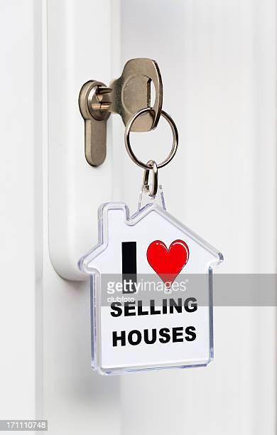 """""""Ich liebe Verkauf Houses'Schlüsselring"""""""