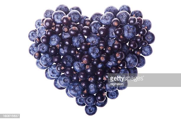 Amour forme de fruits frais