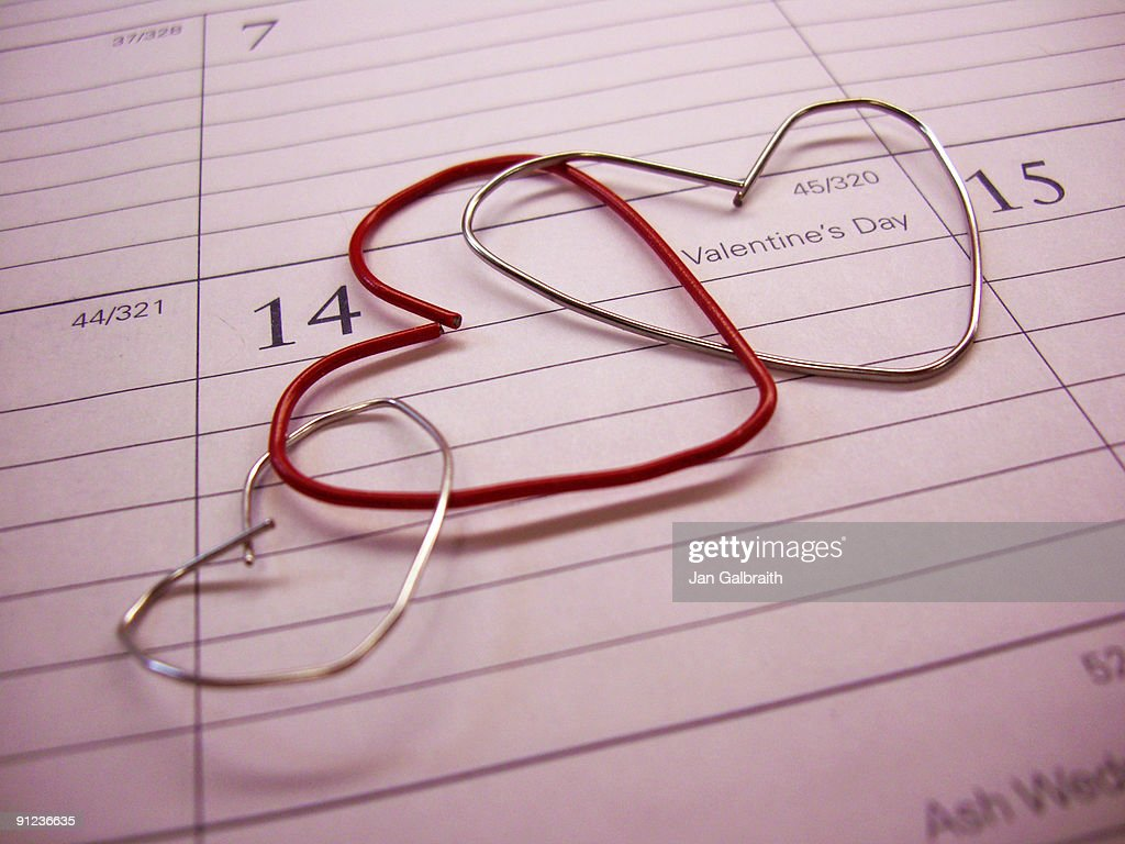 Love sign calendar : Stock Photo