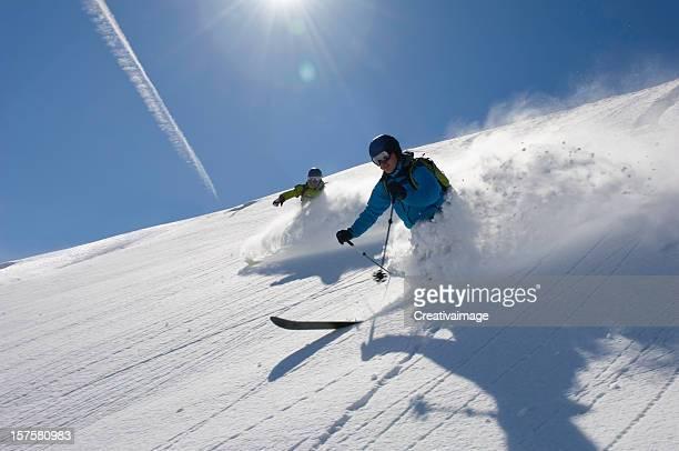 I love skiing in Powder snow