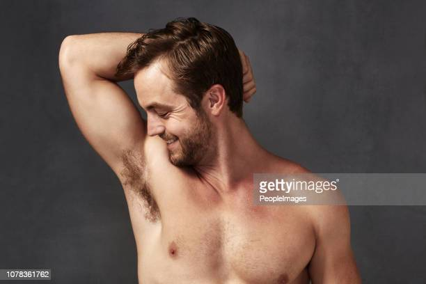 i love smelling fresh - male armpits stock pictures, royalty-free photos & images