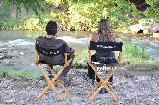 REVOLUTION 'Love Story' Episode 203 Pictured David Lyons as Sebastian Monroe Tracy Spiridakos as Charlie Matheson