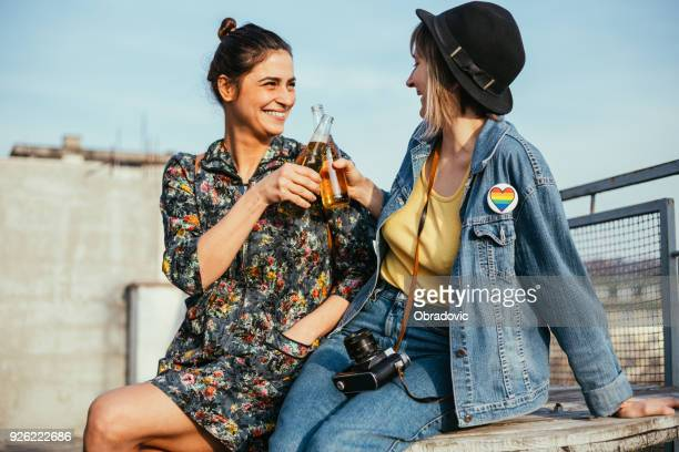 love sure does feel good - lesbian date stock pictures, royalty-free photos & images