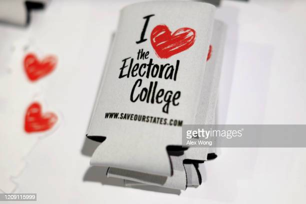 I Love the Electoral College souvenirs are seen during the annual Conservative Political Action Conference at Gaylord National Resort Convention...