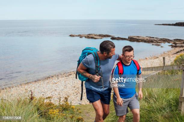 i love this dad - disability stock pictures, royalty-free photos & images