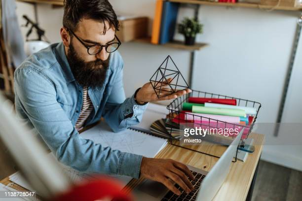 i love to work from home - pyramid shapes around the house stock pictures, royalty-free photos & images